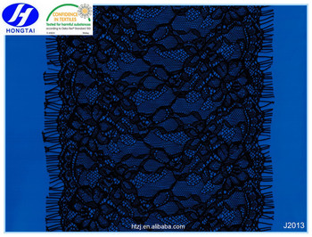 Hongtai in stock 2016 fashion new design black eyelash lace