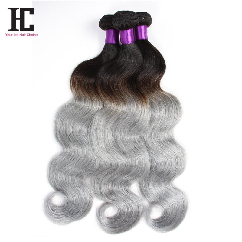 Buy New Arrival Grade 7a Grey Hair Weave 3 Bundles Brazilian Silver