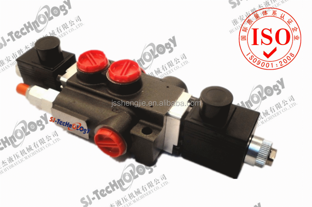 Z1396 Double acting 3positions solenoid control,1-6 levles control,50l/min solenoid control directional control valve for truck