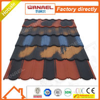 Classical heat insulation Wanael stone coated roof tile/low cost house construction material/roof decoration