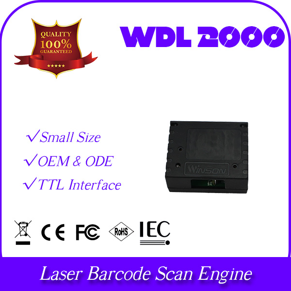 high integrate embeded WDL2000 with plastic box security safe protection 1D laser bar code OEM module engine industrial grade