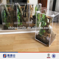 2015 China OEM handmade customized acrylic display case/pet reptile cages/reptile display case acrylic