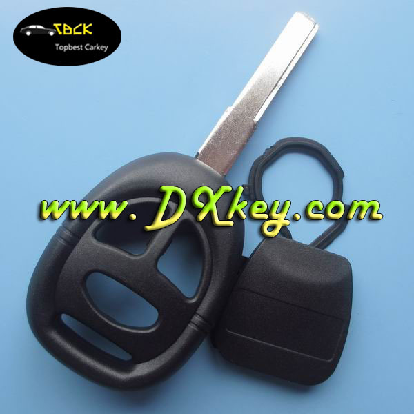 Best Price 3 button key blanks wholesale (2 track blade) for saab key case no logo car remote shell