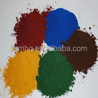 fine powdered iron oxide red/yellow/black/brown color enhanced mulch pigments