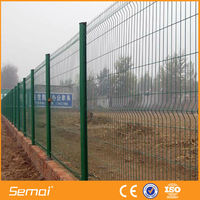 Welded curved metal wire mesh grid fence panels