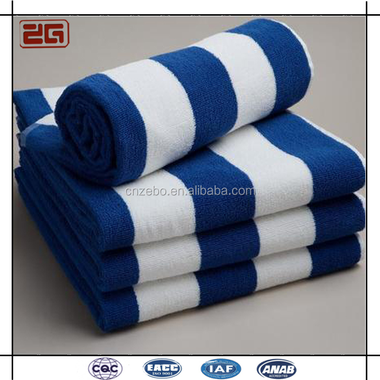 Blue and white stripe towel cotton beach towel