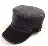 Custom 5 Panel Hats Woven Label Flat Bill Corduroy wholesale hats canada