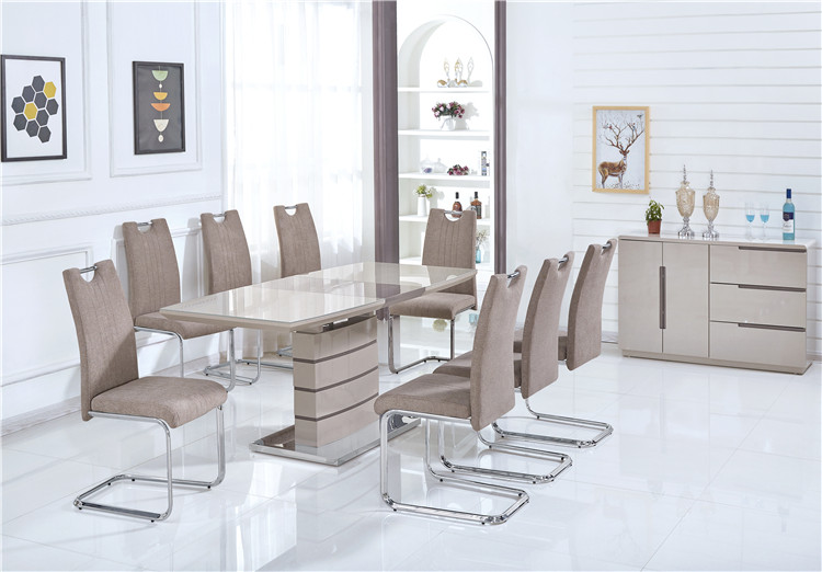 Modern MDF Extending Dinning Room Set Extendable 6/8 Seat Dining Table and Chairs
