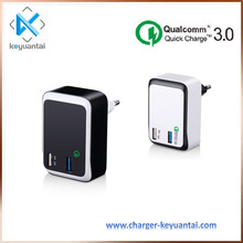 Quick charge 3.0 travel charger 2 port usb wall charger,high quality safety fast charger
