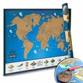 Scratch Off World Map With US States Tracking Poster For Travelers Fun Educational Learning Teaching Tool For All Ages