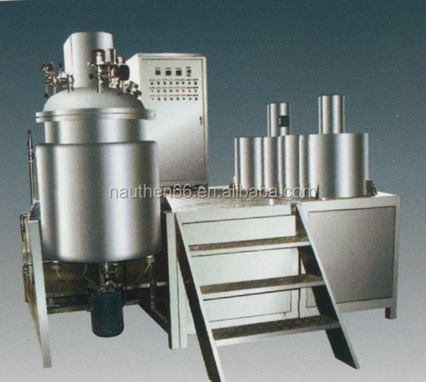 Cosmetics lotion cream vacuum emulsifying mixer BTJR series homogenizer with platform for daily chemical products