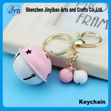 Colorful bell shaped key chain creative bells ladies bag pendant anti-theft custom key ring