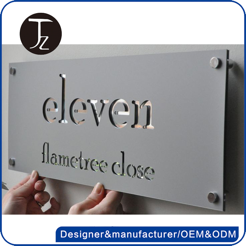 Factory customized hotel project door /room house number plate
