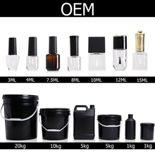 Bluesky OEM ODM Empty UV Nail Gel Polish Glass Bottles Bulk Package
