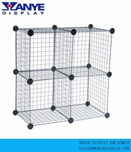 Metal wire grid cube display