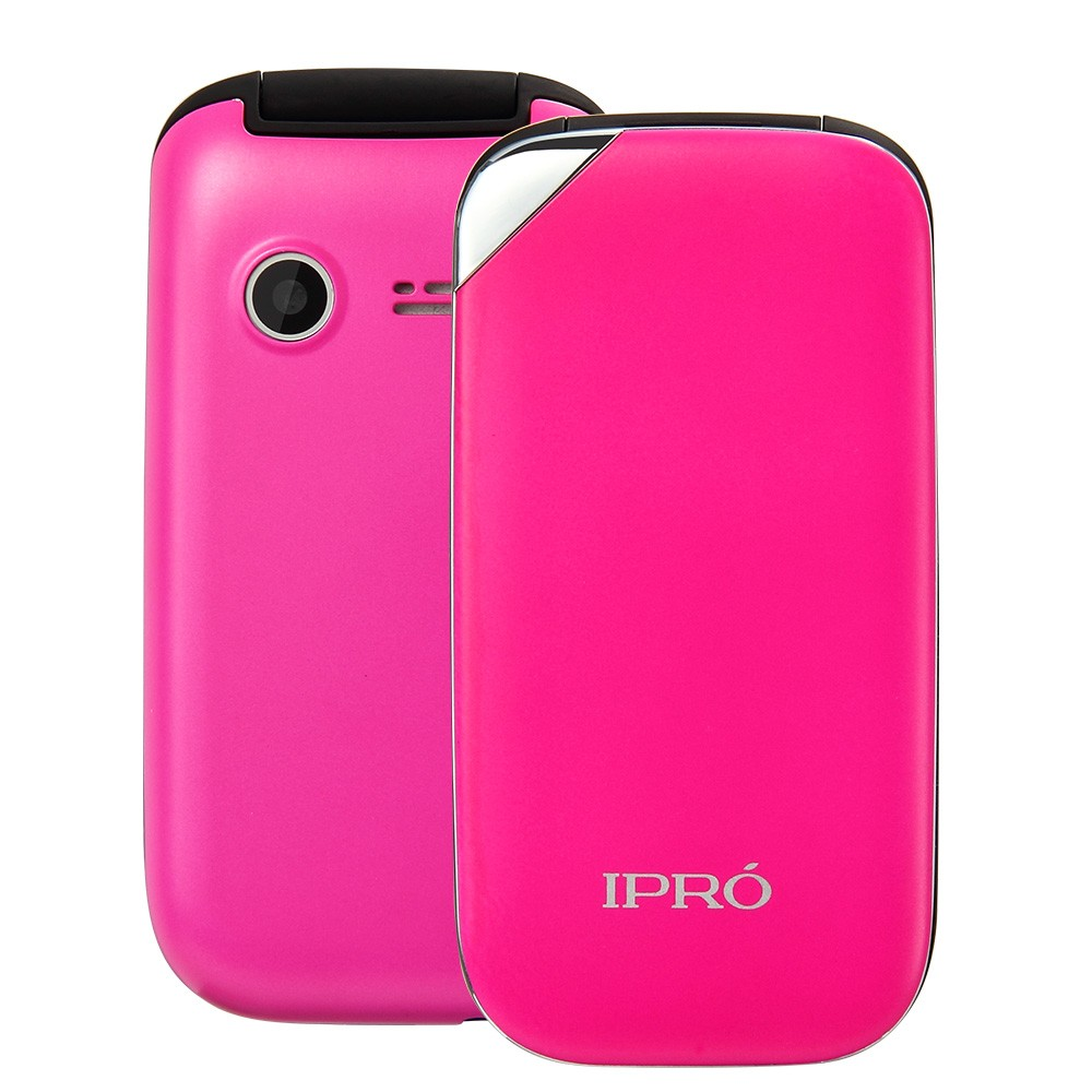 IPRO 2.4 inch cheap flip Quad Band GSM 850/900/1800/1900mhz OEM multi-language top mobile phone for old people