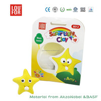 loufor super light polymer clay air dry modeling clay educational diy toys for kids