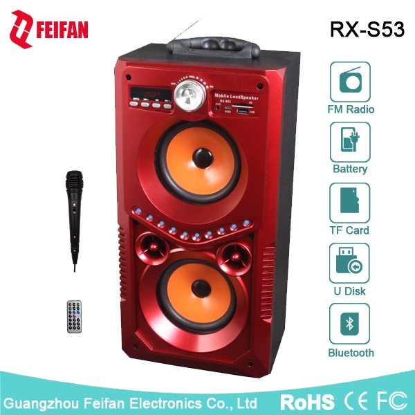 Top Sale 5.0 Inch Portable Bluetooth Speaker With Fm Radio RX-S53