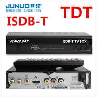 2016 New receptor hd decodificador tv digital isdb t for brazil ecuador chile