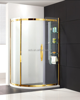 2017 beautiful 8mm Tempered Glass bath corner standing shower