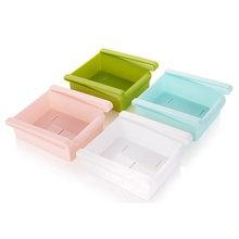 Mini Fridge Freezer Space Saver Plastic Slide Kitchen Organization Storage Rack Bathroom <strong>Shelf</strong>