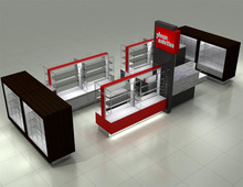 newest glass mobile phone shop design with acrylic logo