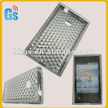 New Arrival Diamond Tpu Hard Back Cover Case for LG E400 Optimus L3