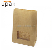 side gusset greaseproof paper bag for packaging fried chicken, potato chips