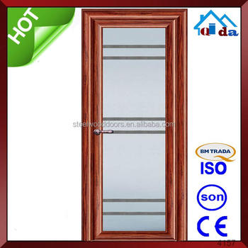 china aluminum frame glass door price and bathroom aluminum sliding door