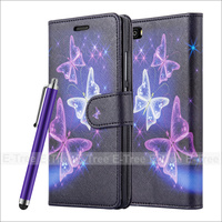 Art Design Picture Pu Leather Wallet Phone Case For Huawei P8 Lite With Free Screen Protector &Stylus Pen