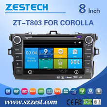 car head unit system for Toyota Corolla 2007-2010 car head unit with GPS Navigation,Radio,Audio,Bluetooth,RDS,3G,wifi,V-10disc