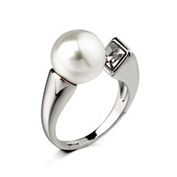 High quality Pearls Ring Manual Adjustable Lovely Rings for Women gold/silverTop Quality Free Shipping