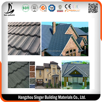 0.5mm Classical /Shingle /Rainbow /Markuti Granited Galvalume Roof Tiles Prices
