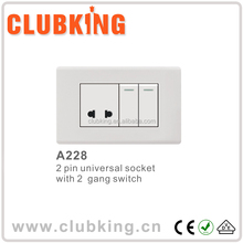 Americal standarding sok socket switch 15 amp switched socket outlet