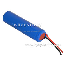 UN38.3 UL certificated 3.7v 1650mah li-ion battery for Handheld Flashlight used in Torch