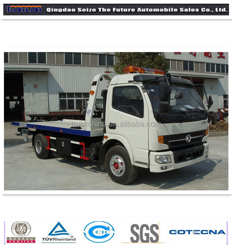 Good performance flatbed 4X2 road wrecker/ tow truck dimensions