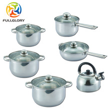 Hot selling multifunction cooking soup pot spoon cookware set with 6-Pcs