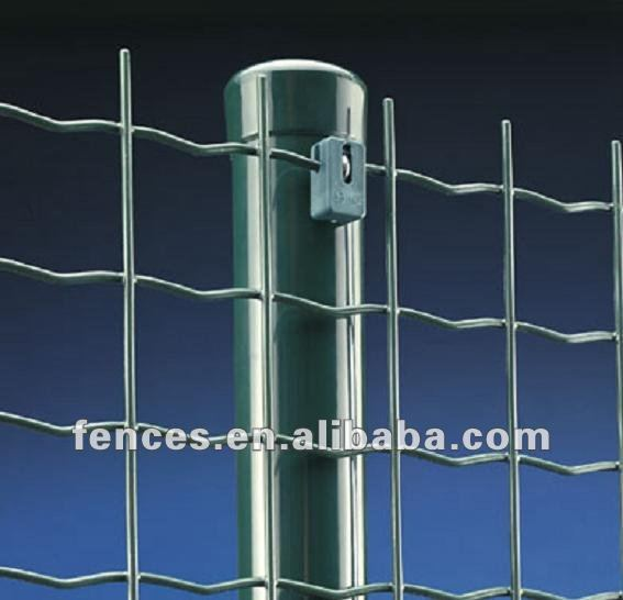 exported wrought iron 2.5mm wire euro fence with post