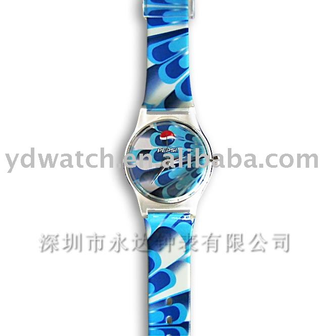 plastic watch for PEPSI COLA