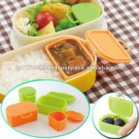 japanese kitchenware bento tool food cup dividers silicon kechup & mayo holder