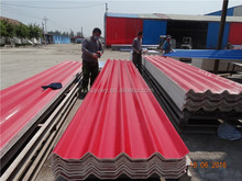 Fireproof Factory Supply Color-coated Big-wave Good sell high quality eco-friendly Magnesium oxide roof tiles