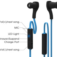 Sport Wireless Bluetooth Stereo Earbuds Headphones