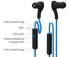 Sport Wireless Bluetooth Stereo Earbuds / Headphones with In-Line Microphon, mini bluetooth earphone