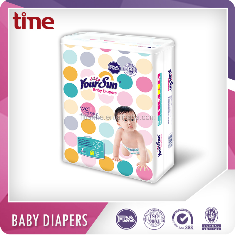Cloth like breathable film Magic Tape huggy baby diapers