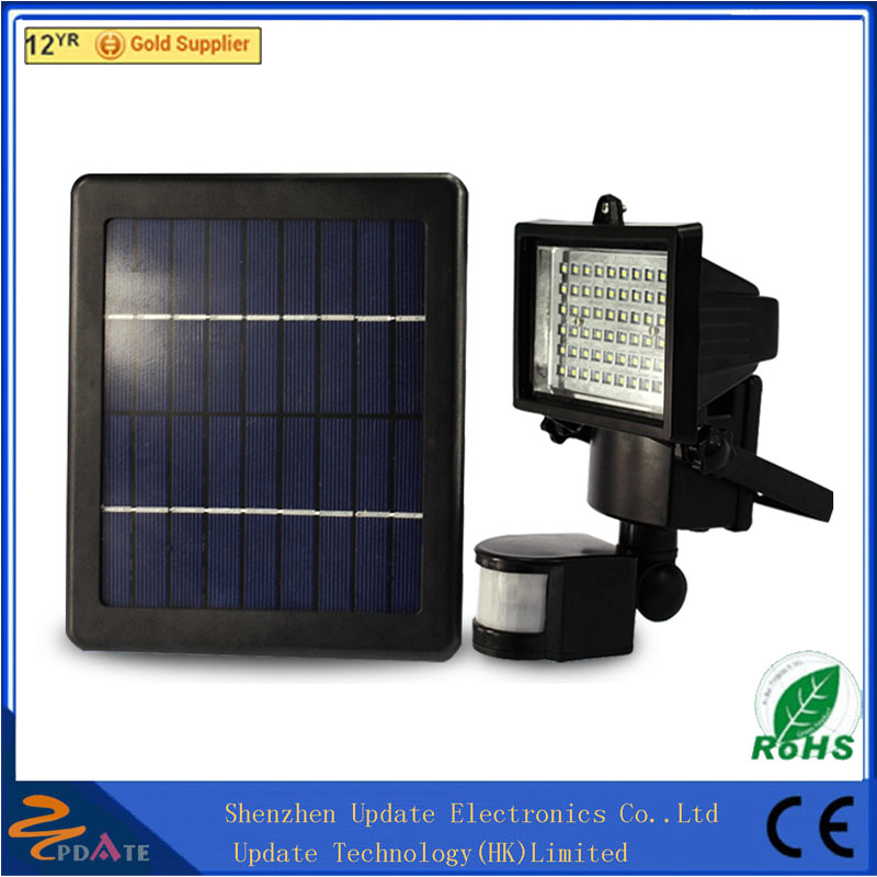 60 LED 60 LED Outdoor Indoor Solar Flood Light With PIR Motion Sensor powerful solar led flood lights outdoor