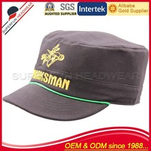 embroidery hot selling army hat sailor captain hat