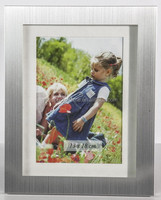 Brushed Aluminum Photo Frame Wtih Passepartout For Promotion