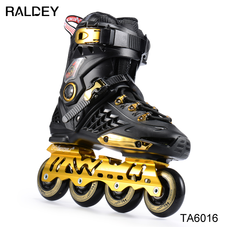 Manufacture mens professional roller blading, roller skating 4 wheels, inline skate shoes popular hot sell shoes for adults