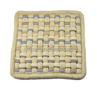 knit all cotton crape fabric chair mountable seat cushion