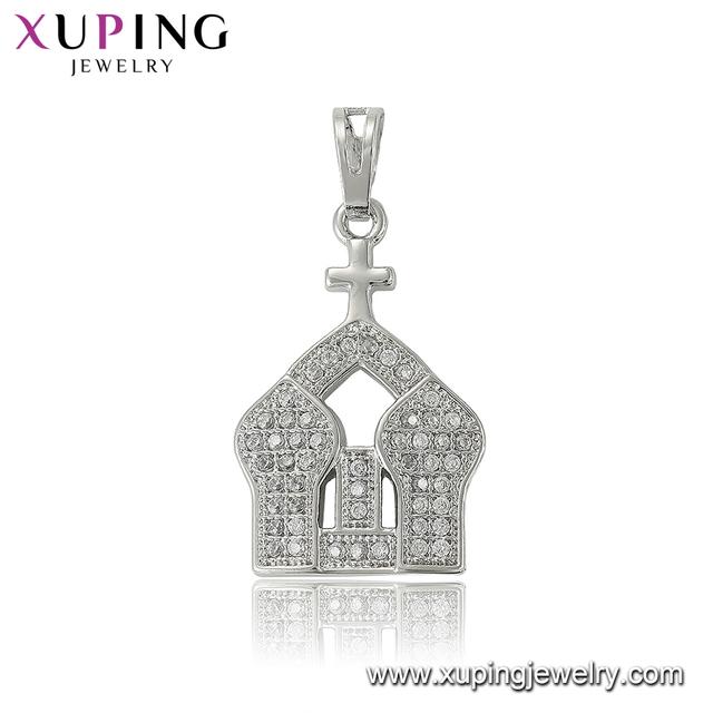 33551 xuping Cross Church pendant jewelry supplies